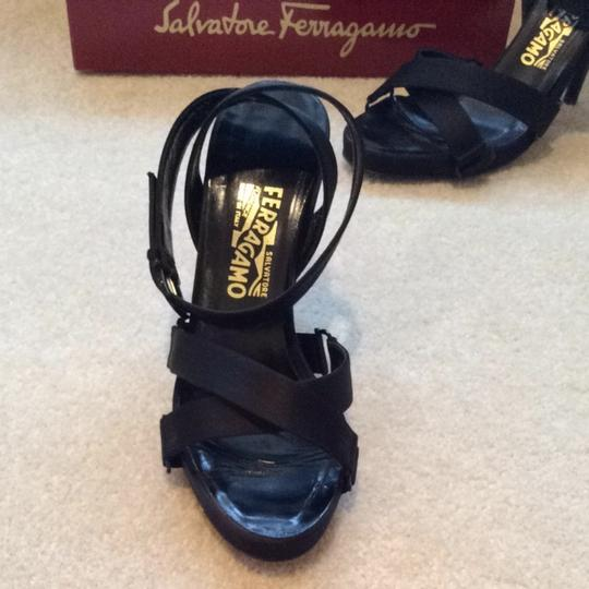 Salvatore Ferragamo Black Platforms