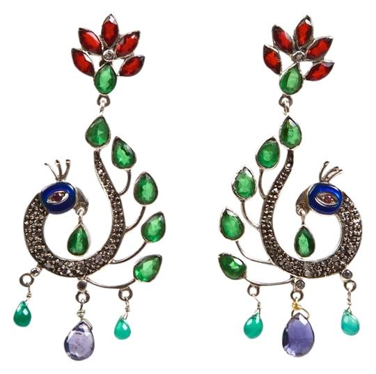 Preload https://item5.tradesy.com/images/red-blue-green-peacock-gem-and-enamel-earrings-836904-0-0.jpg?width=440&height=440