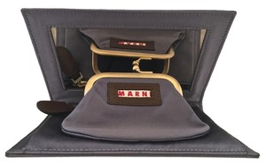 Marni Wallet Baguette Satin Leather Wedding Shadow Clutch