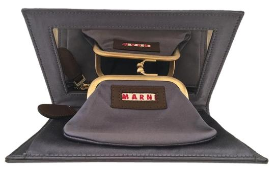 Preload https://item1.tradesy.com/images/marni-take-it-rare-shadow-leathersatin-clutch-836990-0-2.jpg?width=440&height=440