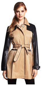 bebe Faux Leather Trench Jacket Trench Coat