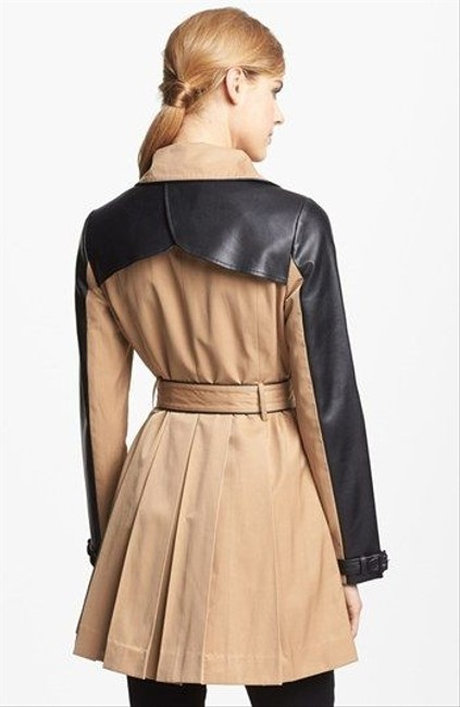 bebe Faux Leather Jacket Trench Coat