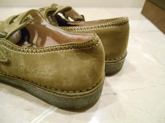 Kickers Leather Mary Jane Oxford Euc Comfortable Casual Work Campus Campus Fun Outfit Weekend Cut Out Cut Work Stitching Finest Earthy Green Flats