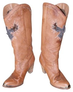 Sam Edelman Feather Eagle 8.5 Leather Brown Boots