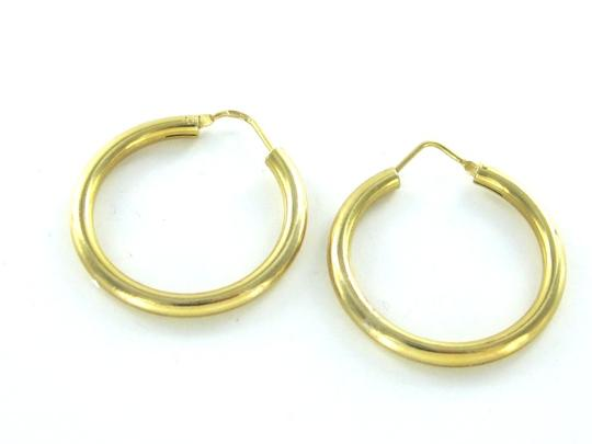 Other 18KT KARAT SOLID YELLOW GOLD EARRINGS HOOP 4.3 GRAM FINE JEWELRY 1 INCH PIERCED