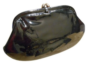 Stylemark Vintage Purse Black Patent Clutch