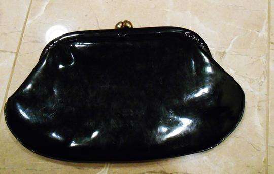 Stylemark Vintage Purse Evening Shiny Formal Fun Purse Night Out Evening Black Patent Clutch