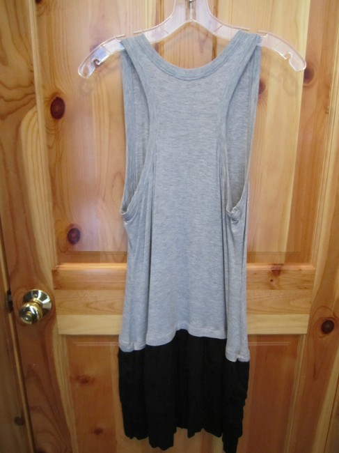 Maurices short dress Black and Grey Sundress Tank Ruffle Skirt on Tradesy