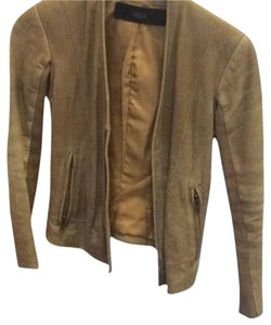 VEDA Leather Leather Tan Leather Jacket