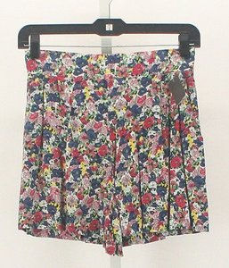 American Rag Cie X Cream Navy Pink Yellow Multi B23 Shorts Multi-Color
