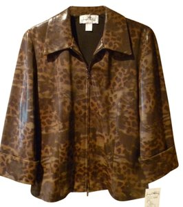 Joseph Ribkoff Brown Animal Print Jacket