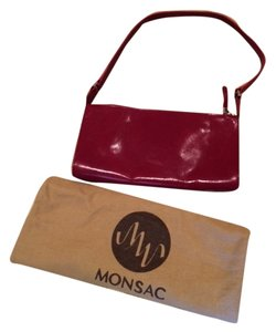 Monsac Original Leather red Clutch