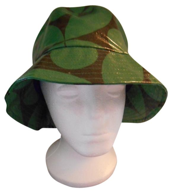 Item - Green and Navy With Wonderful Rain Coated Cotton Cotton Lined Hat