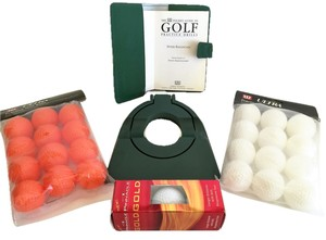 Golfer's Practice Set; Pocket Guide to Golf Practice Drills by Peter Ballingall, 3-Pinnacle Gold Golf Balls, 12-White Ultra Practice Balls, 12-Florescent Ultra Practice Balls, Green Putting Cup [ BradysPlace ]