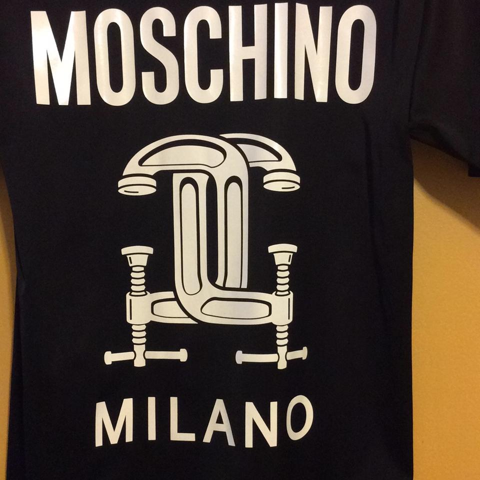 d4001aedbc9f Moschino Black '2nd Story' Sleeve Graphic T-shirt Above Knee Short Casual  Dress Size 2 (XS) - Tradesy