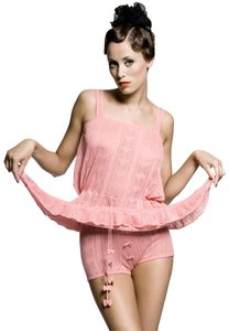 Afterwear Knit Pointelle Chemise Set