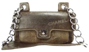 Chanel Double Flip Double Chain Boy Brown Messenger Bag