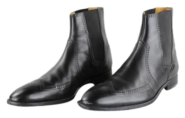 Hermès Black Luis Mens Low Cut Leather Boots - Formal Shoes Size US 10.5 Regular (M, B) Hermès Black Luis Mens Low Cut Leather Boots - Formal Shoes Size US 10.5 Regular (M, B) Image 1