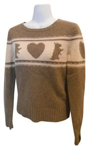 Juicy Couture Wool All Wool Scotties Logo Shirt 100% Wool Hearts Sweater