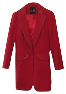 C. Luce Longline Coat Suit Small Red Blazer