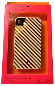 Kate Spade Kate Spade Harrison Gold Stripe Hybrid Hardshell case iPhone 4/4S
