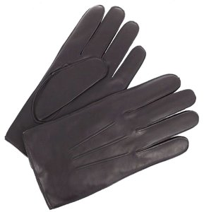 Coach LEATHER GLOVE WITH CASHMERE BLEND LINING F85144 MAHOGANY (MEDIUM SIZE)