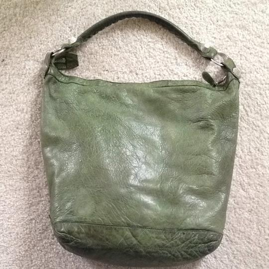 Balenciaga Day Lambskin Distressed Leather Giant Hardware Light-weight Hobo Bag