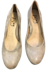 French Sole Sz 6M Made In Italy Fs/Ny Gumdrop Taupe Flats