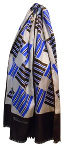 Giovanni Reda Giovanni Reda Geometric Vintage Long Silk Scarf Color Pop