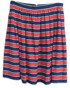 J.Crew Skirt Navy and red