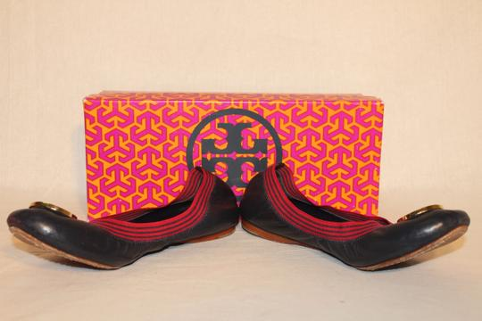 Tory Burch navy/red Flats
