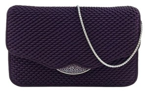 Judith Leiber Silver Hardware Crystal Purple Clutch