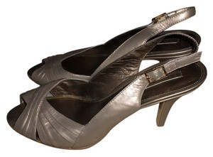 Bandolino Leather Slingback Champagne Formal