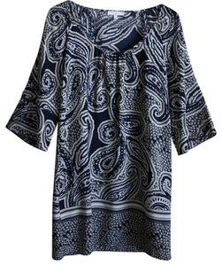 Glam short dress Blue Paisley on Tradesy