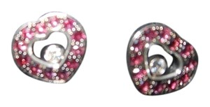 Chopard Chopard 18k white gold ruby & diamond earrings