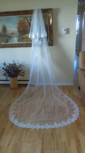 2 Tier Lace Cathedral Veil