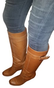 Via Spiga Winter Camel Brown Leather Boots