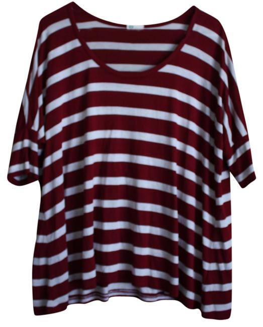 AG Adriano Goldschmied T Shirt White/Red Stripe