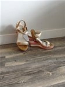 Coach Wedge Sandal light tan/bright coral/white Wedges