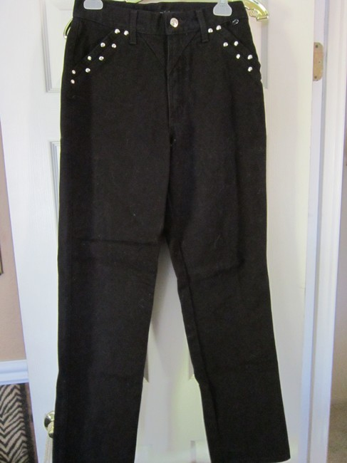 ROCKIES Studded Straight Leg Relaxed Fit Jeans