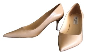 Jimmy Choo Lizzy Point Toe Nude Pumps
