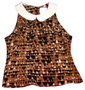 Line & Dot Top Brown, Black, And Creme
