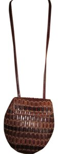 Sharif Leather Mirror Snakeskin Cross Body Bag