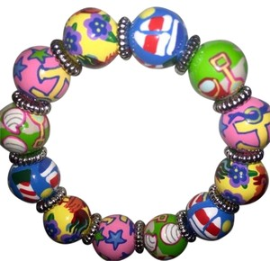 Angela Moore ANGELA MOORE Braclet Classic Hand Painted multi colors