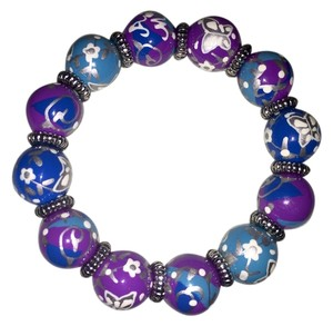 Angela Moore ANGELA MOORE Braclet Classic Hand Painted Purple