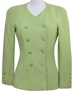 Chanel Lime Green Blazer