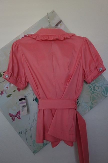 Cachet Blouse Top Pink