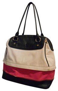 mark. Convertible Purse Spring Satchel in Black white fuchsia