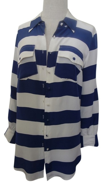 Preload https://item4.tradesy.com/images/gemma-white-and-navy-blouse-button-down-top-size-4-s-837848-0-0.jpg?width=400&height=650