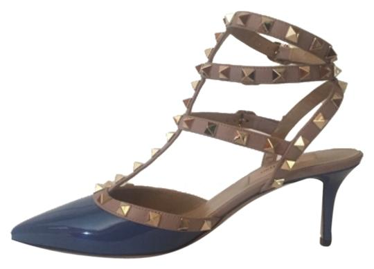 valentino rockstud kitten indigo blue grey pumps on sale 28 off pumps on sale. Black Bedroom Furniture Sets. Home Design Ideas